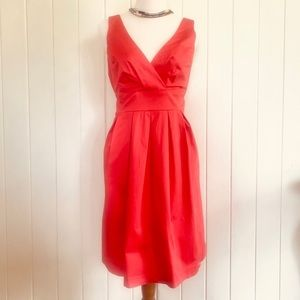 🌱WITCHERY Sz 10 Coral Fit & Flare Cotton Dress